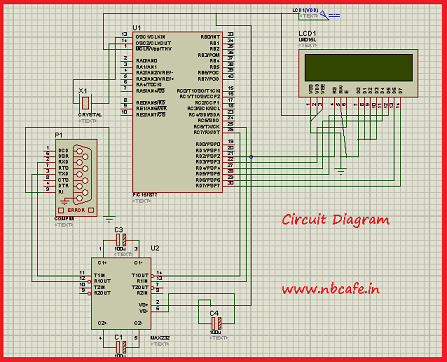 Serial communication with Pic 16f877 using UART