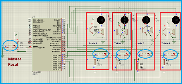Pic microcontroller based fastest finger press quiz buzzer project