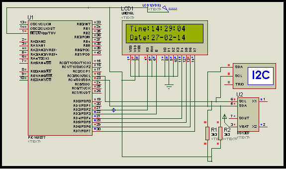 Interfacing DS1307 Real time clock with PIC16f877