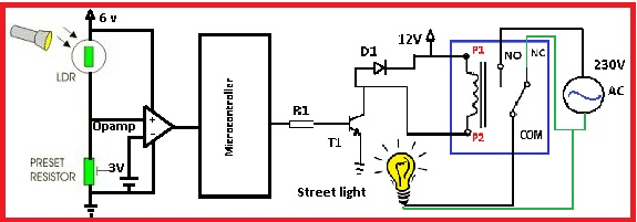 Automatic street light control by pic microcontroller - NBCAFE