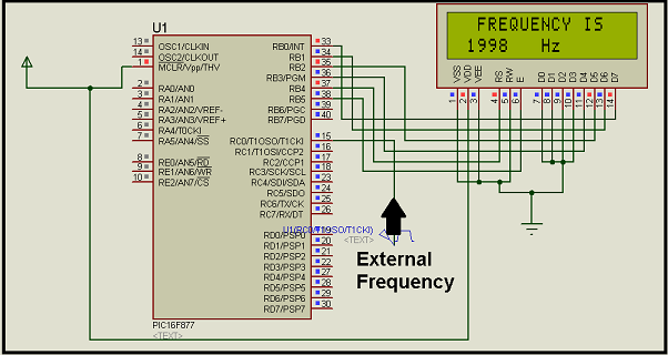 Frequency Counter Projects : Digital frequency meter by pic microcontroller using timer