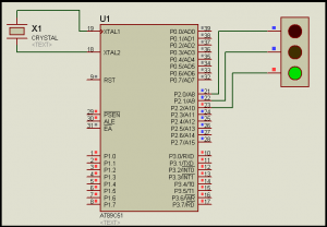 LED blinking by 8051 microcontroller using mikro c pro for 8051