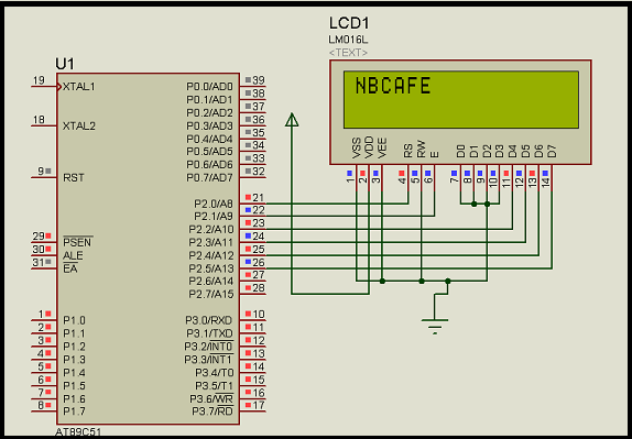 Interfacing LCD with 8051 microcontroller