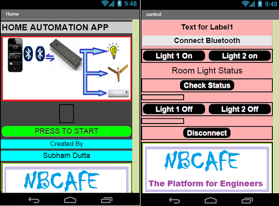 Android based home automation system