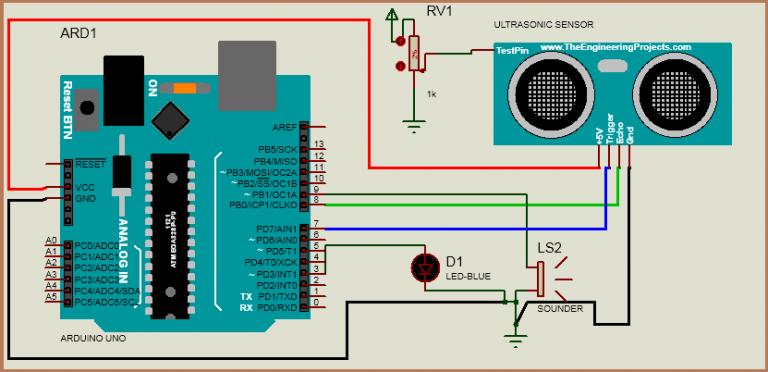 Interfacing Ultrasonic Sensor HC-SR04 with Arduino Uno R3
