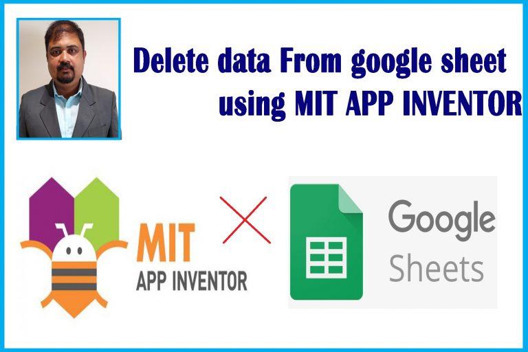 Delete data from google sheet using mit app inventor