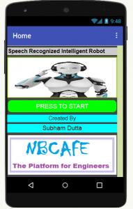 Speech Recognized Intelligent Robot