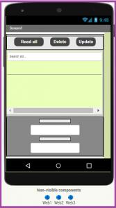 update data to google sheet using mit app inventor